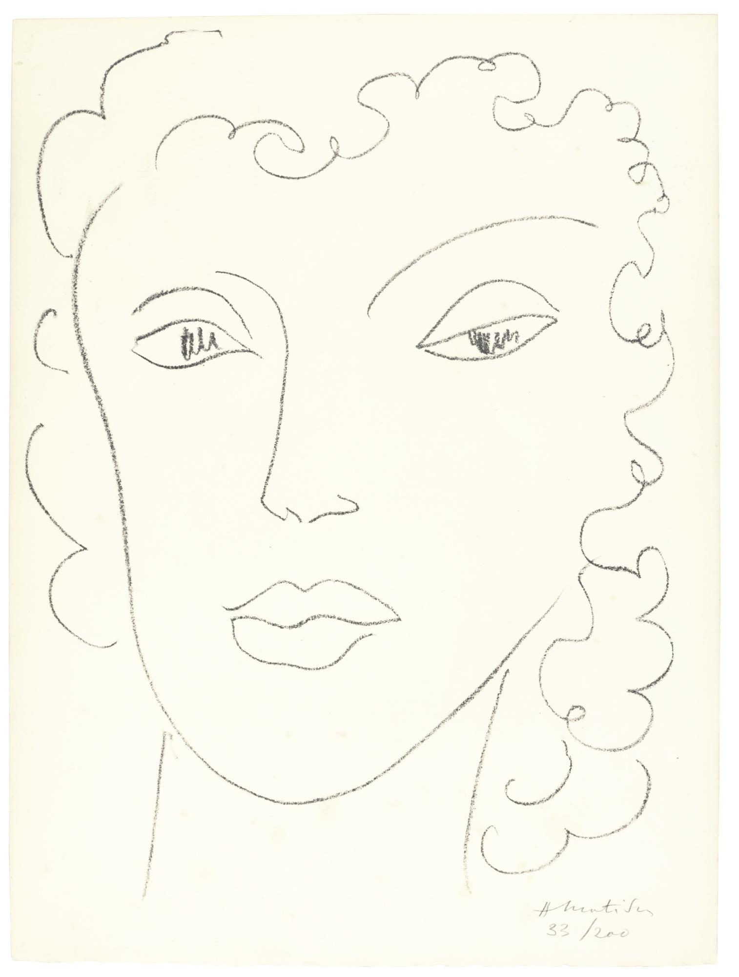 Henri Matisse-Haitienne (Duthuit 567)-1945