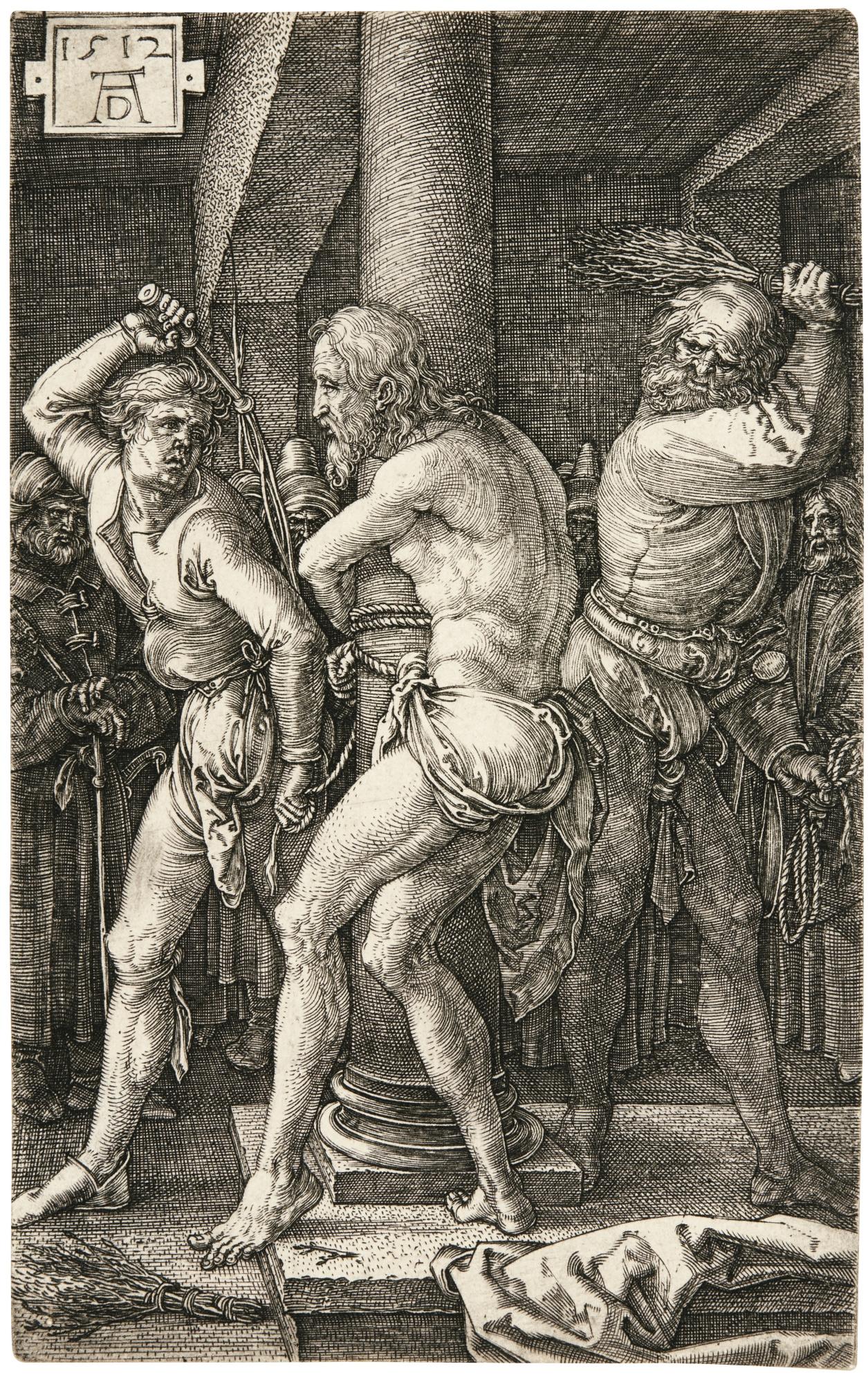 Albrecht Durer-The Flagellation (B., M., Holl. 8)-1512