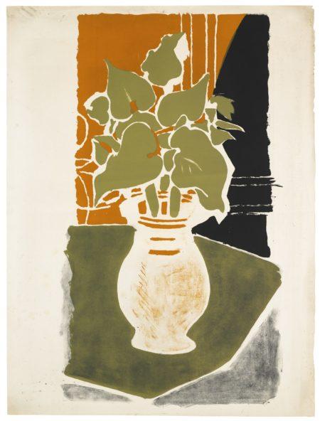 Georges Braque-Feuilles, Couleur Lumiere (V. 86)-1954