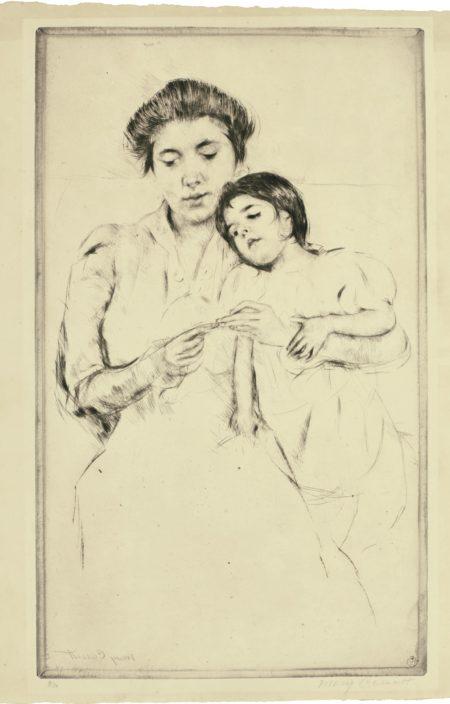 Mary Cassatt-The Crocheting Lesson (Breeskin 178)-1902