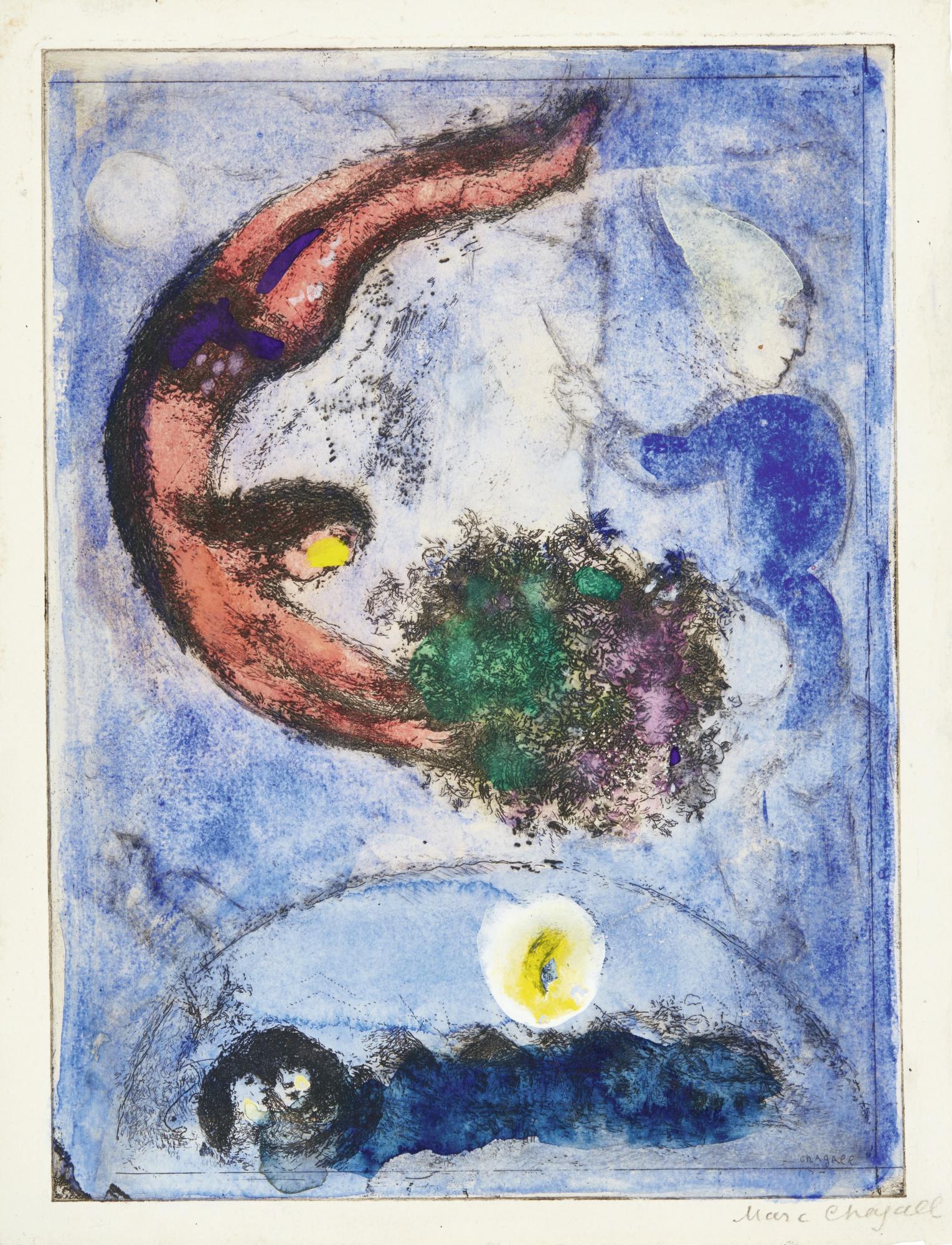 Marc Chagall-Das Geschenk (Kornfeld 96; Cramer Books 16)-1945