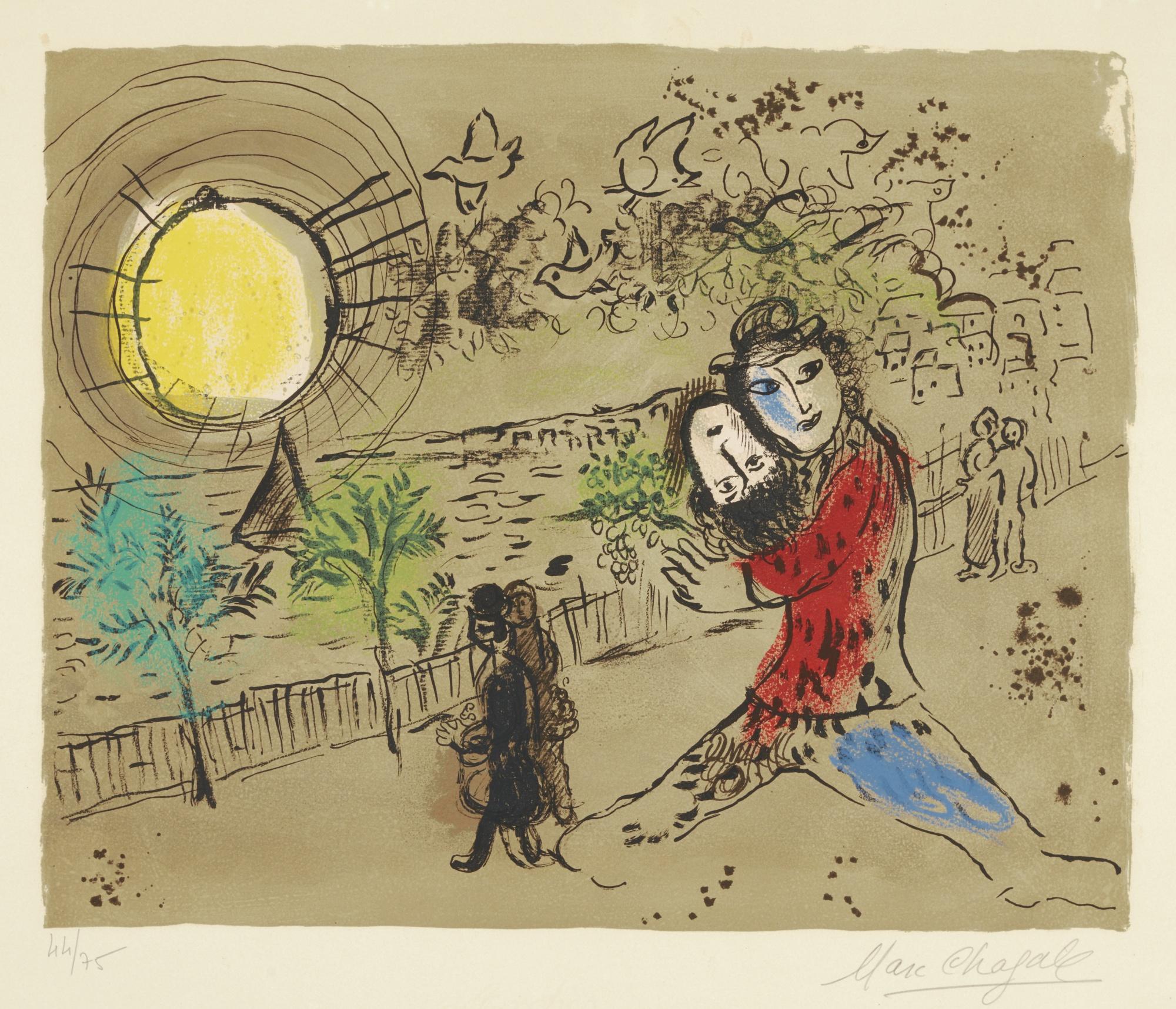 Marc Chagall-Le Soleil Jaune (M. 556)-1968