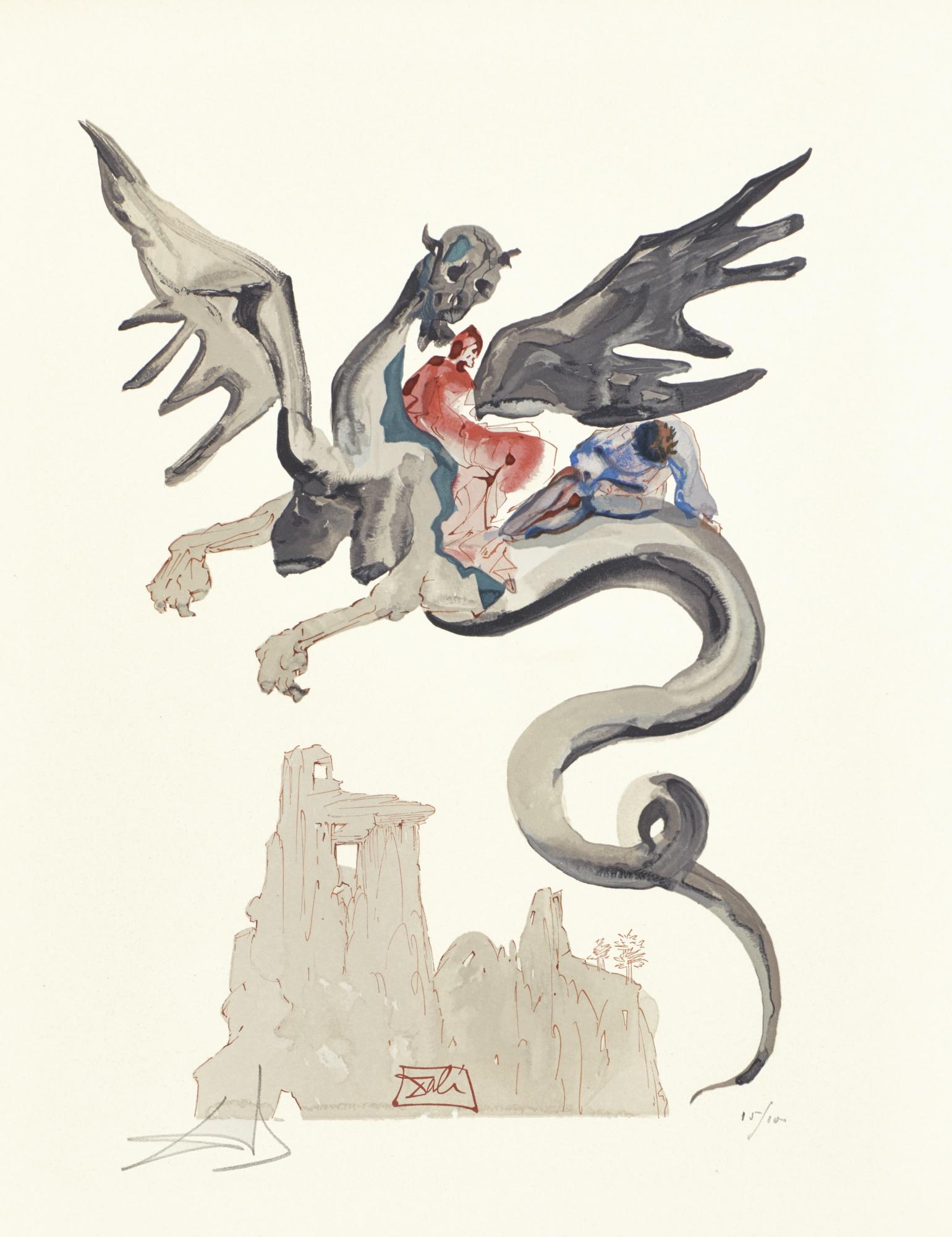Salvador Dali-La Divine Comedie (M. & L. 1039-1138; See F. Pp. 189-200)-1970