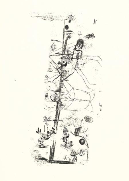 Paul Klee-Vogelkomodie (Kornfeld 69)-1918