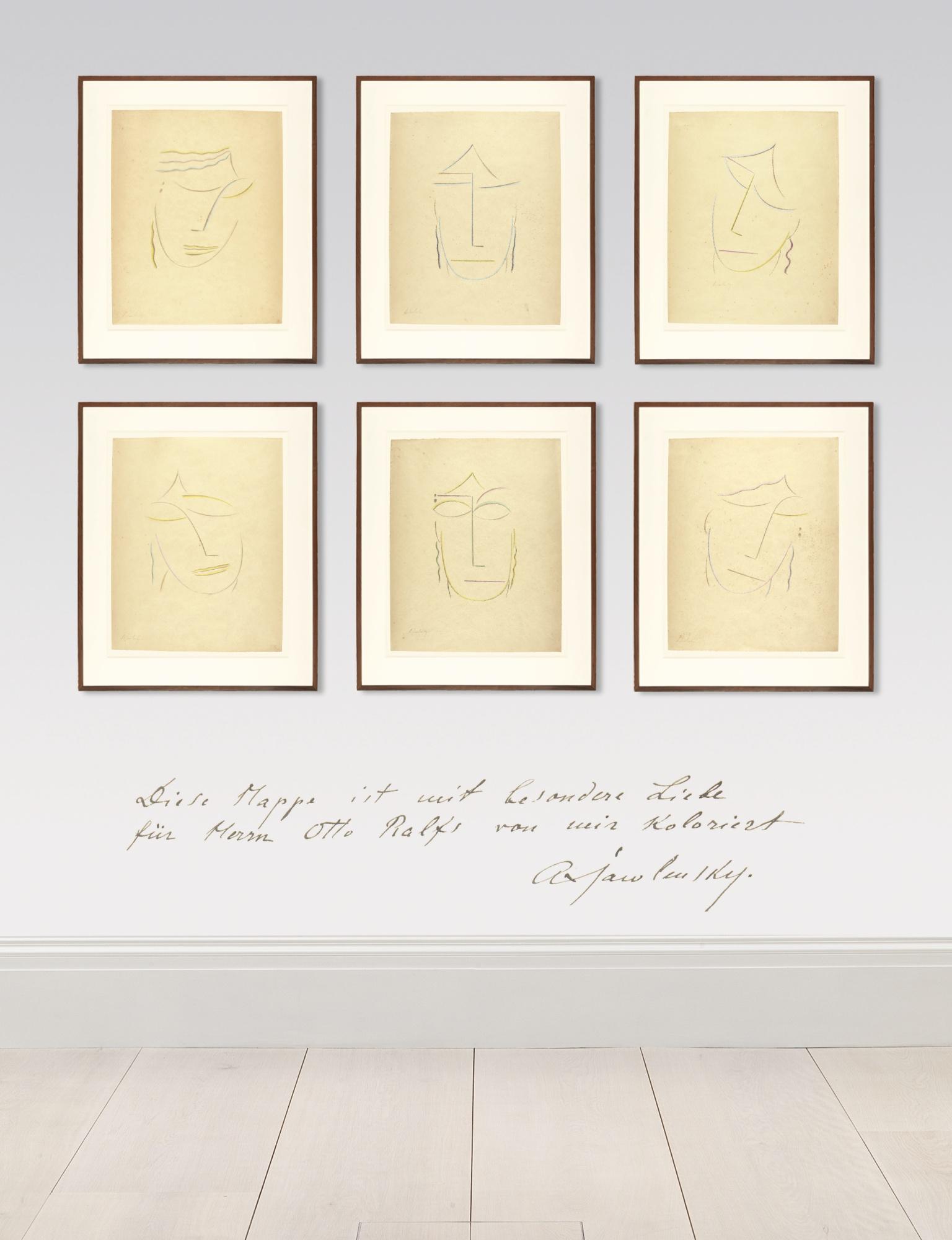 Alexej von Jawlensky-Kopfe: 6 Lithographien (Rosenbach 18-23)-1922