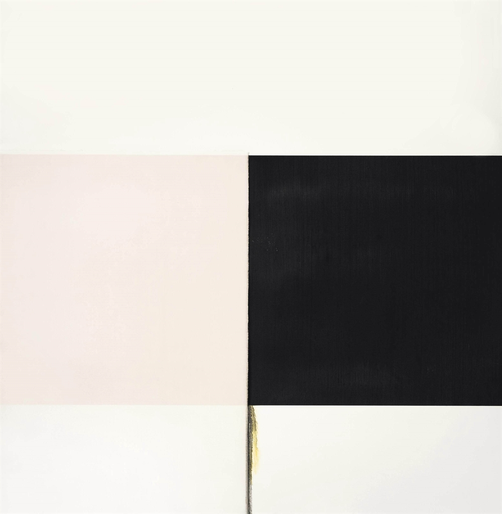 Callum Innes-Exposed Painting Ivory Black-2001