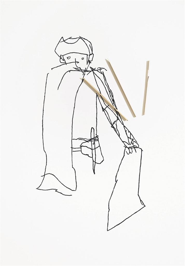 Richard Aldrich-Figure W/ Cape Revealing Hamlet-2008