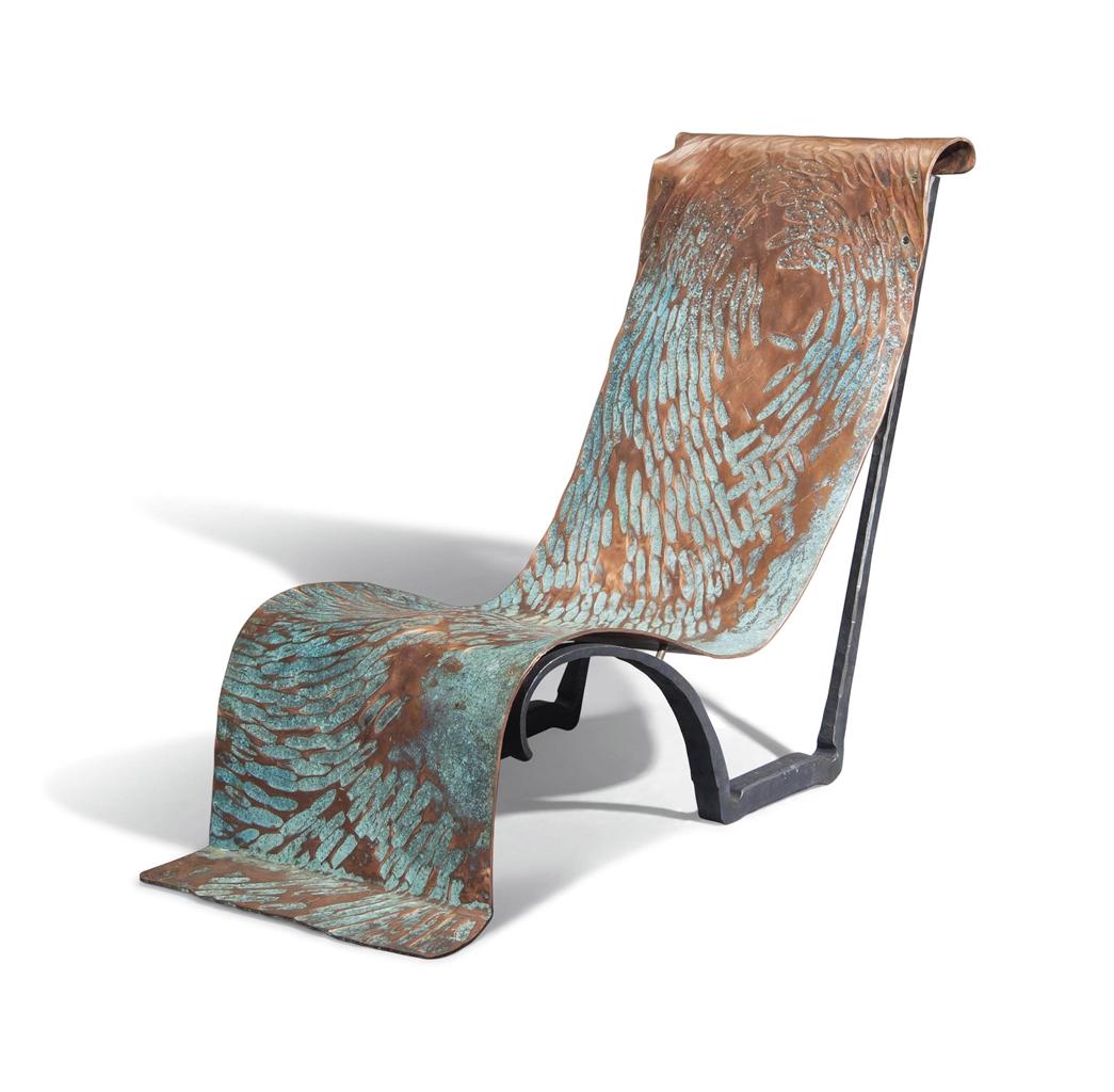 Conrad Hicks-A Unique 'Copper Chaise'-2016