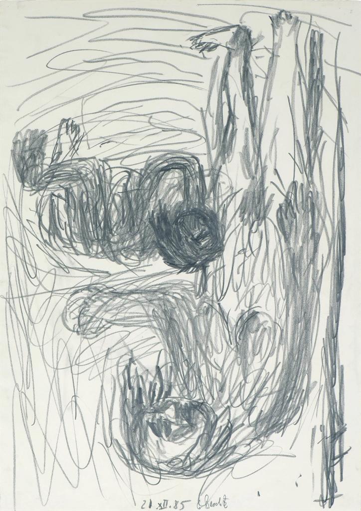 Georg Baselitz-Untitled, 21.XII.1985-1985