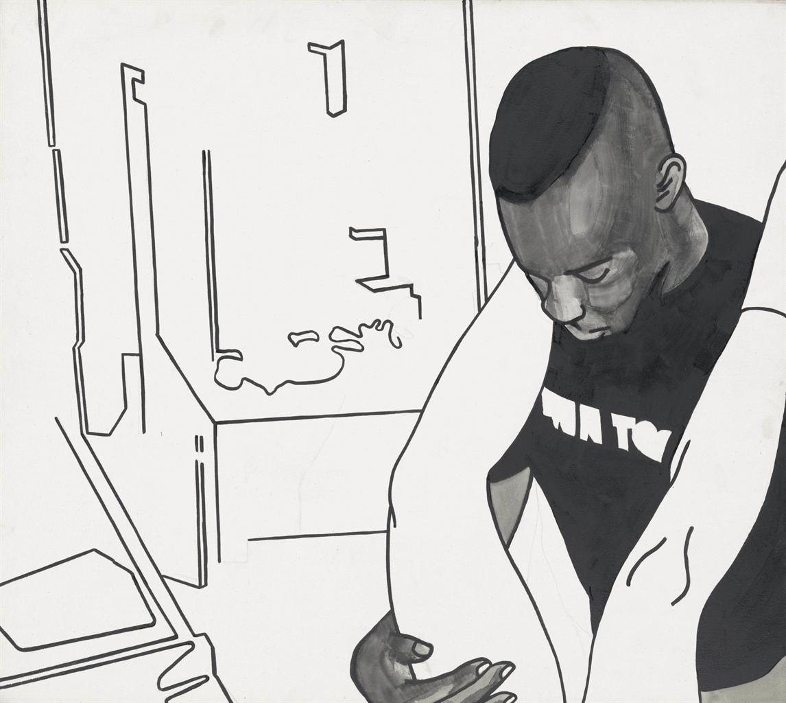 Wilhelm Sasnal-Untitled (Black And White)-2001
