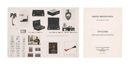 Marcel Broodthaers-Catalogue - Catalogus, Palais Des Beaux-Arts, Du 27/9.74 Au 3/11/74-1974