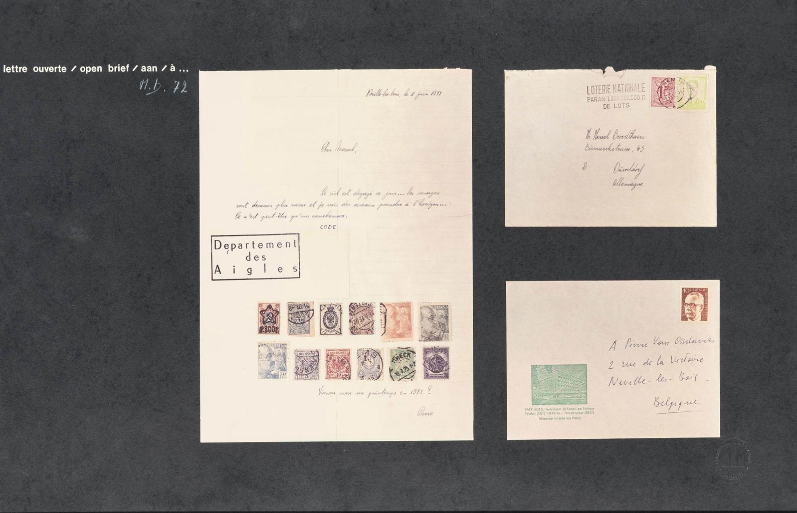 Marcel Broodthaers-Lettre Ouverte (Pas De Surimpression) (Open Letter (No Overprints))-1972