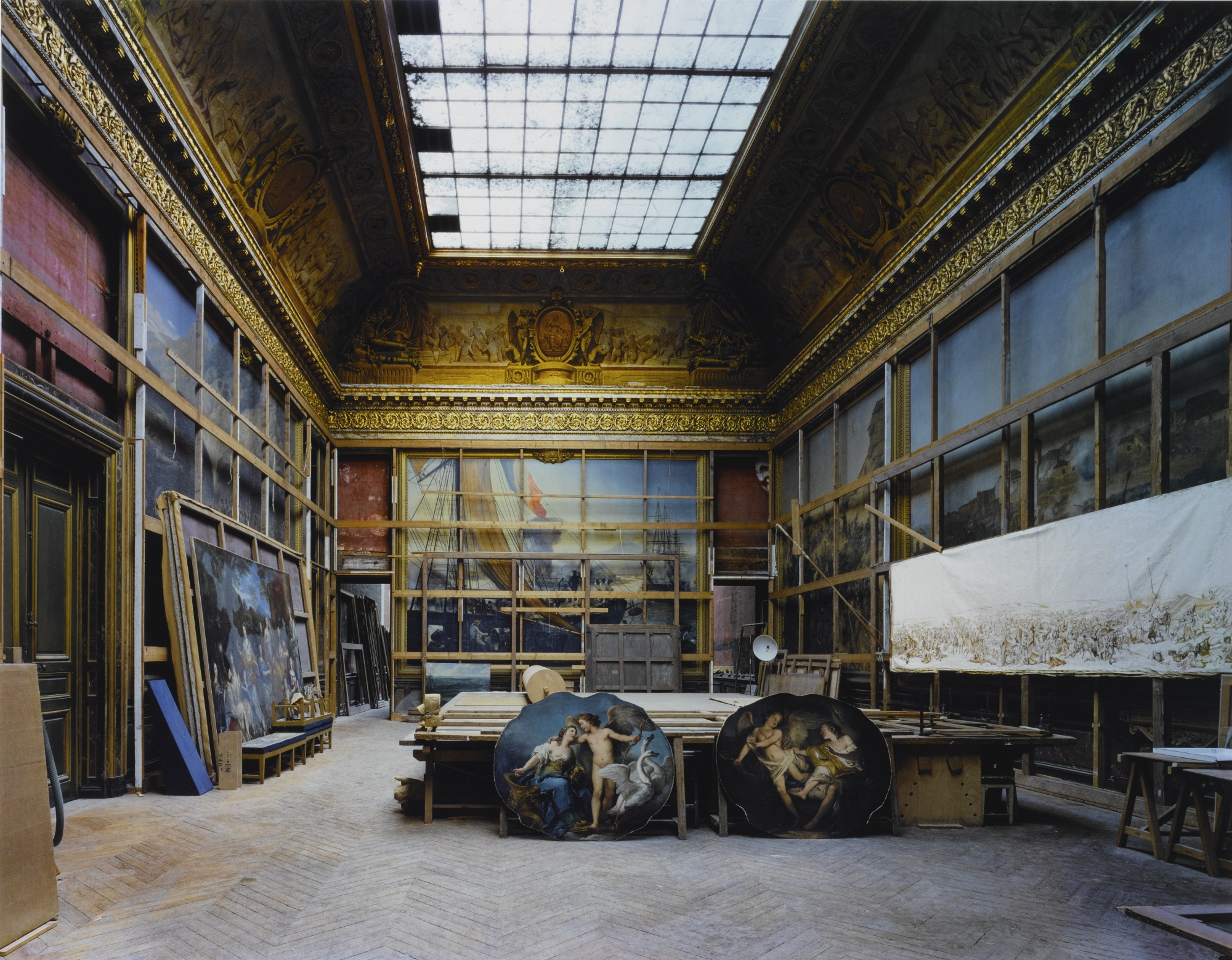 Robert Polidori-The Smalah Room, Versailles (Two Oval Paintings On The Floor)-1985