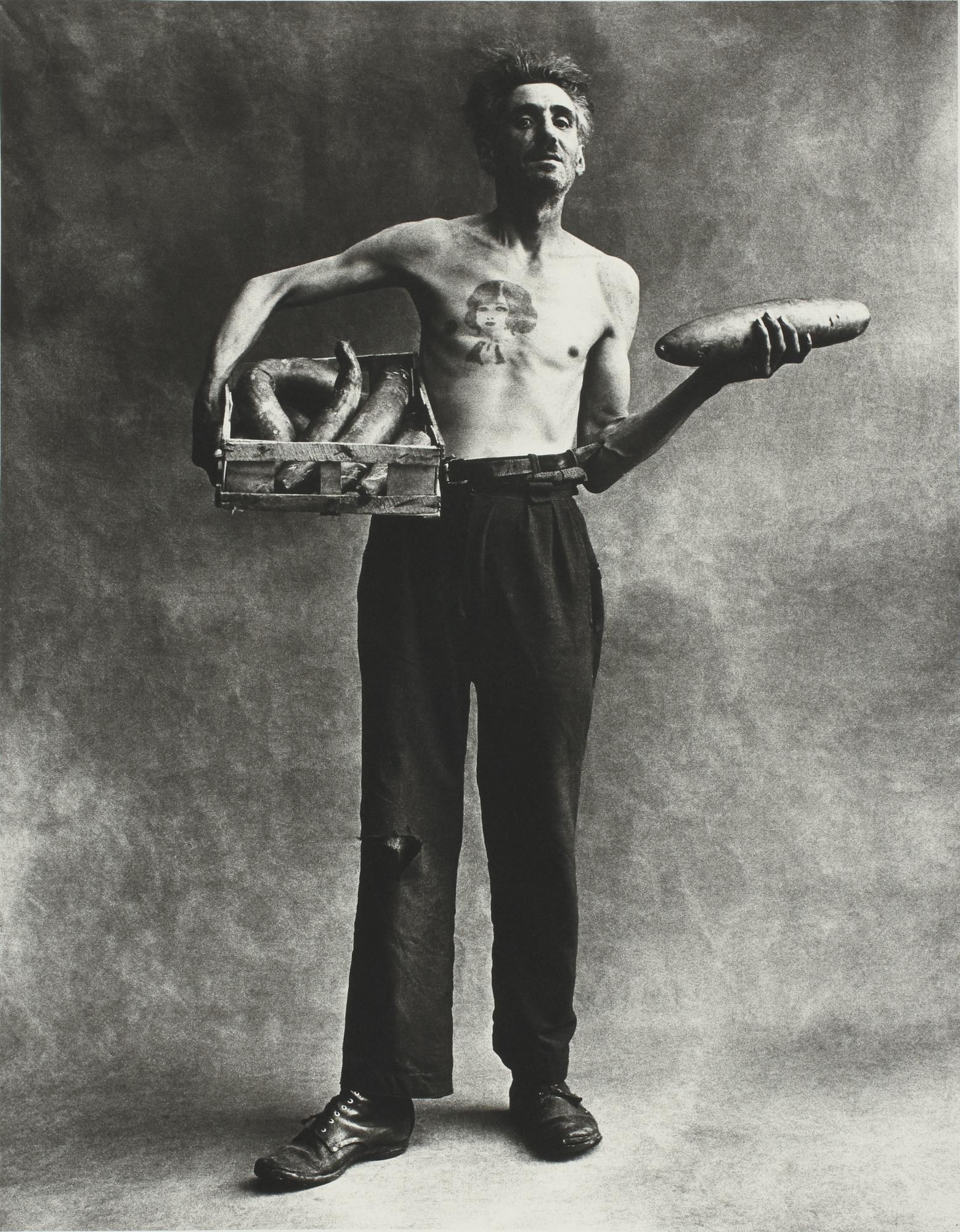 Irving Penn-Marchand De Concombres, Paris-1951