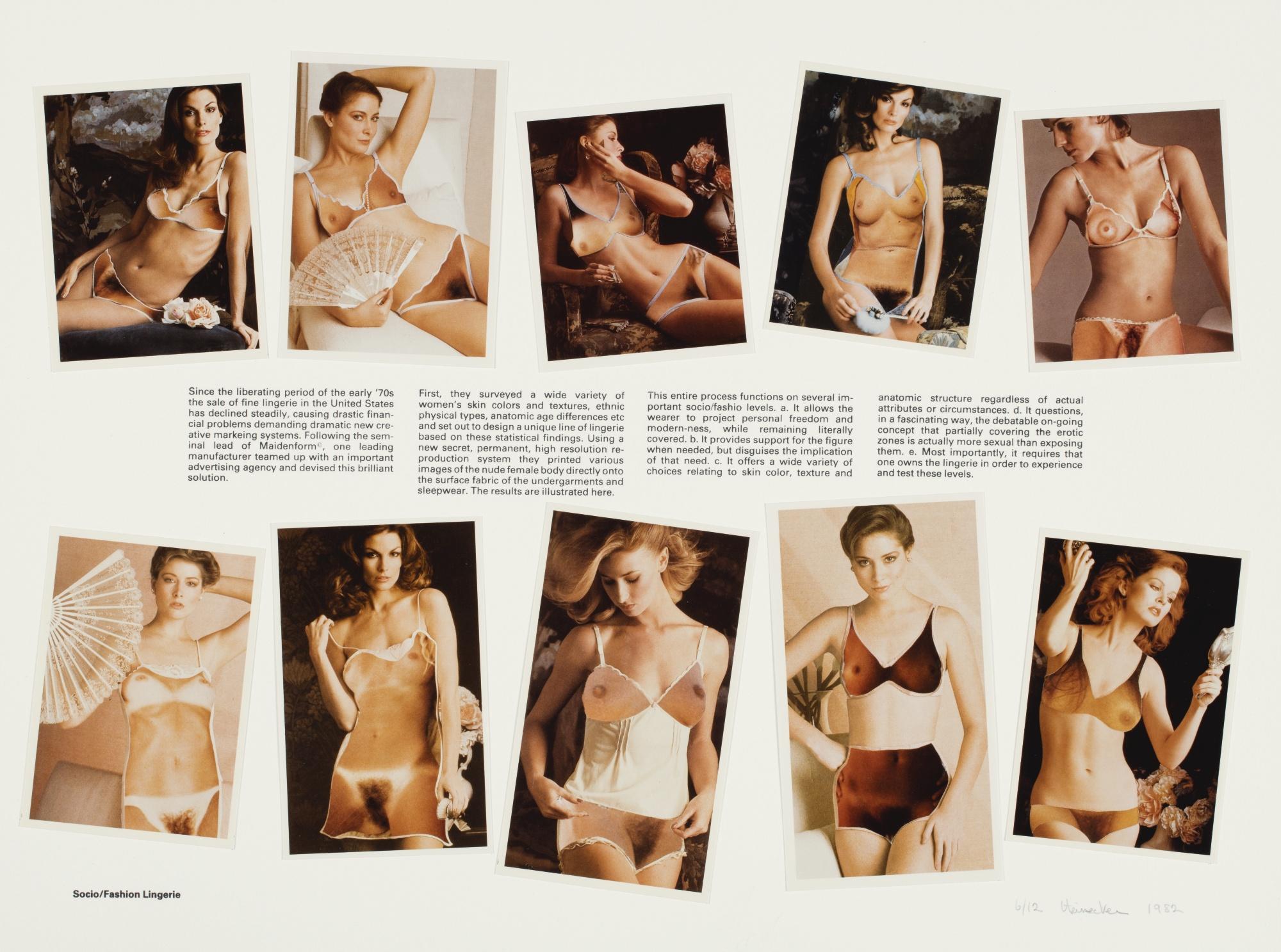 Robert Heinecken-Socio/Fashion Lingerie-1982