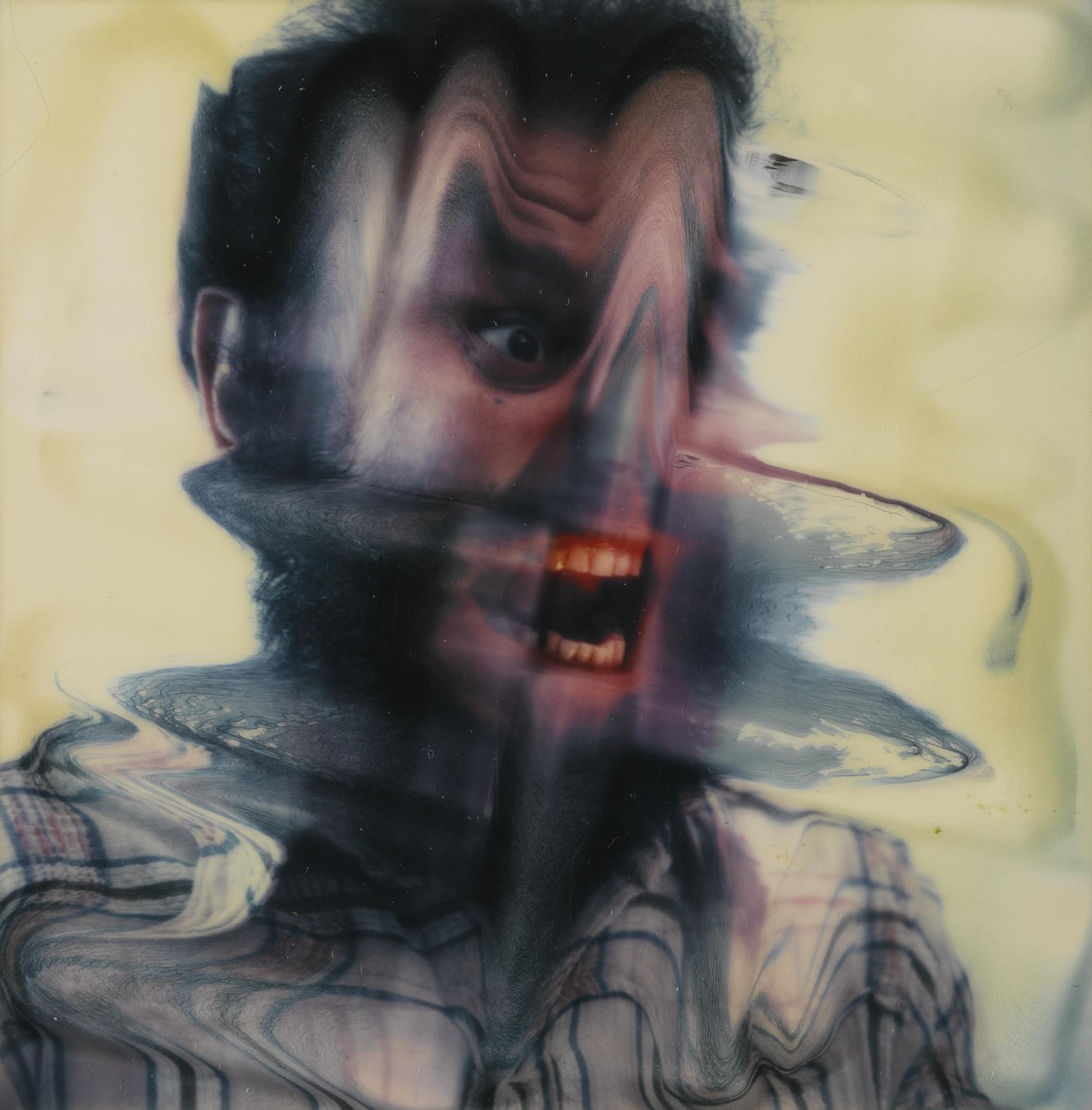 Lucas Samaras-Photo-Transformation 10/31/73 (Face)-1973