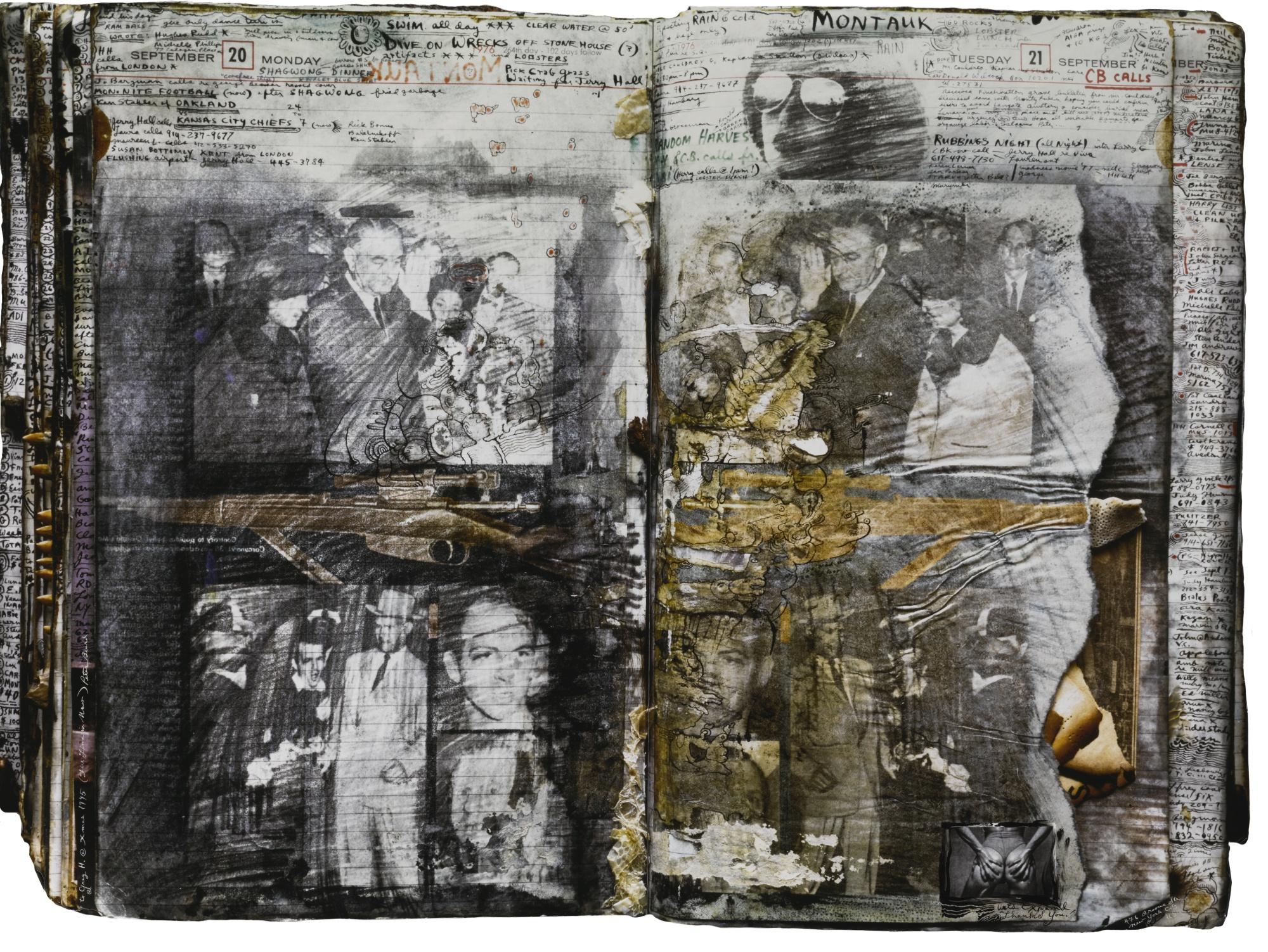 Peter Beard-Diary Page-1976
