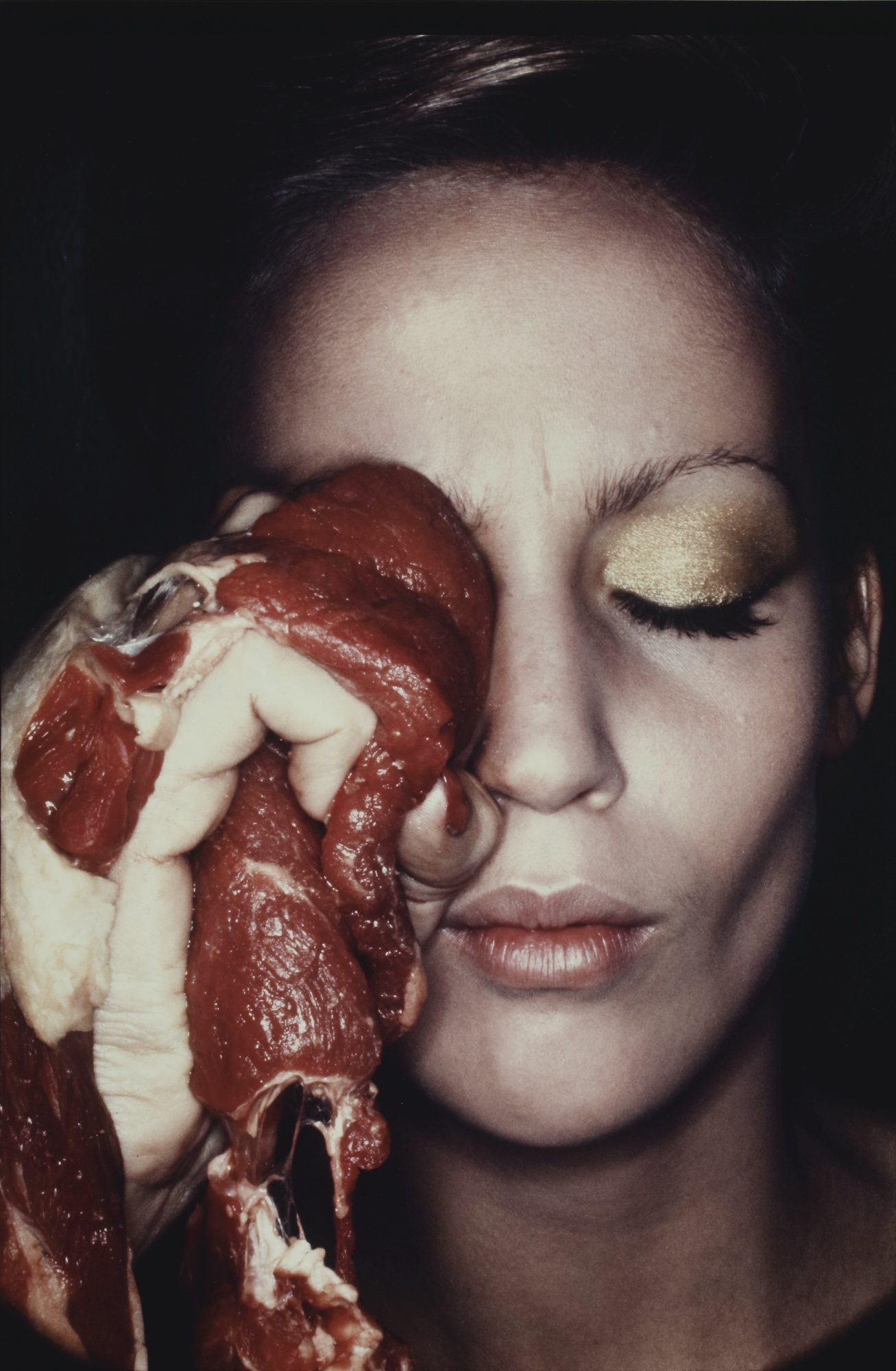 Helmut Newton-A Cure For A Black Eye, Jerry Hall-1974