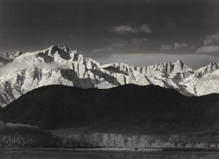 Ansel Adams-Sierra Nevada From Lone Pine, California (Winter Sunrise)-1944