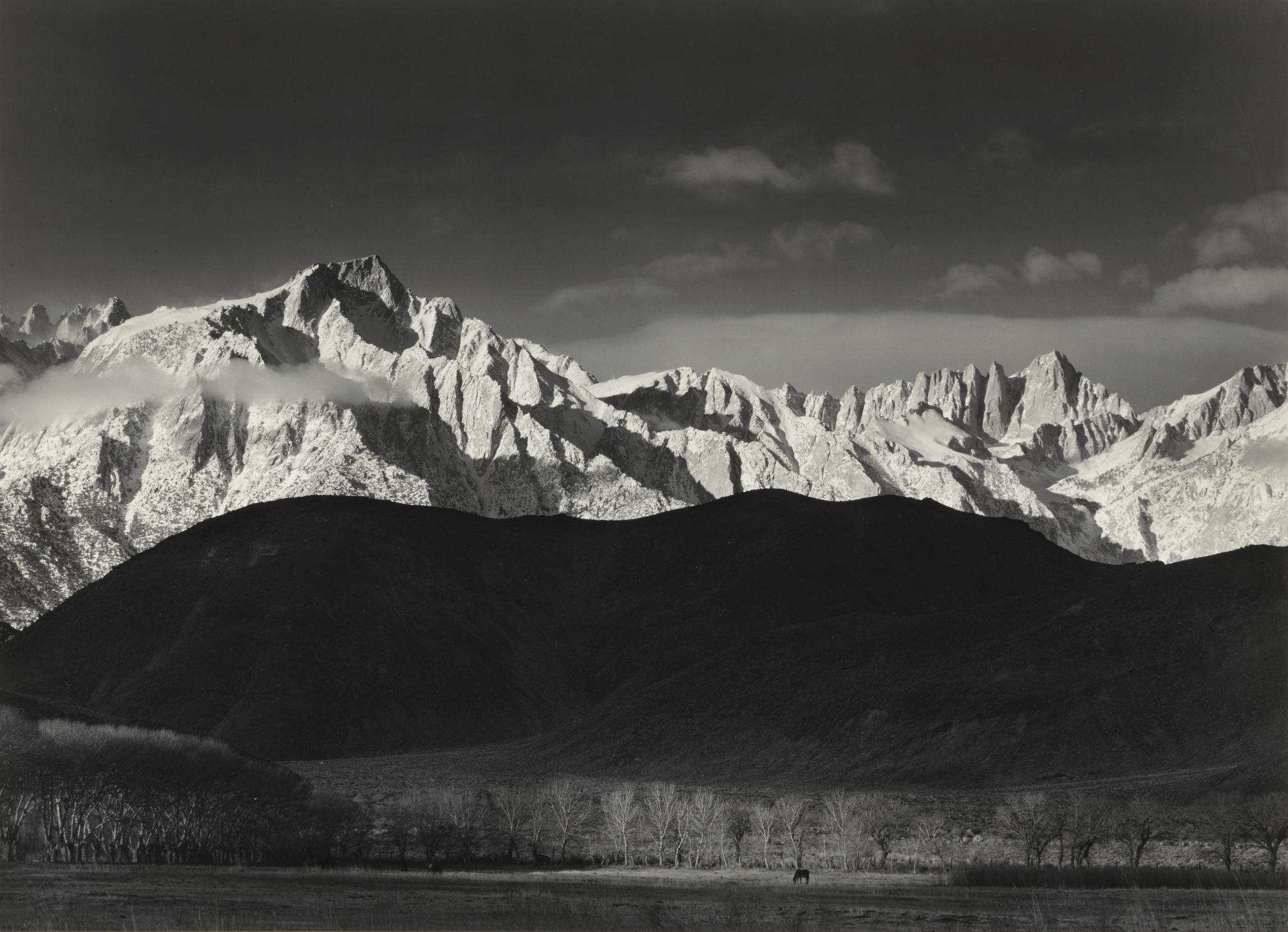 Ansel Adams-Sierra Nevada From Lone Pine, California (Winter Sunrise)-1944