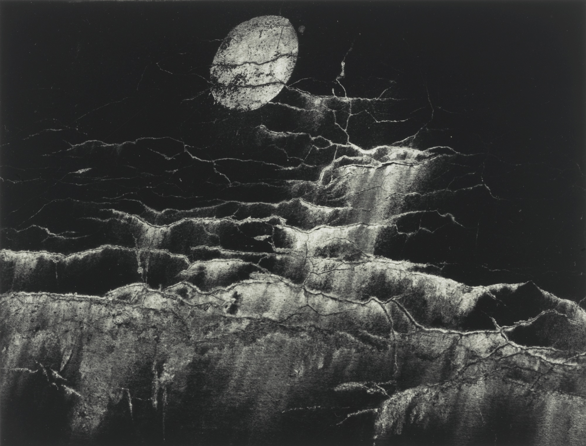 Minor White-Moon And Wall Encrustation- Pultneyville, New York-1964