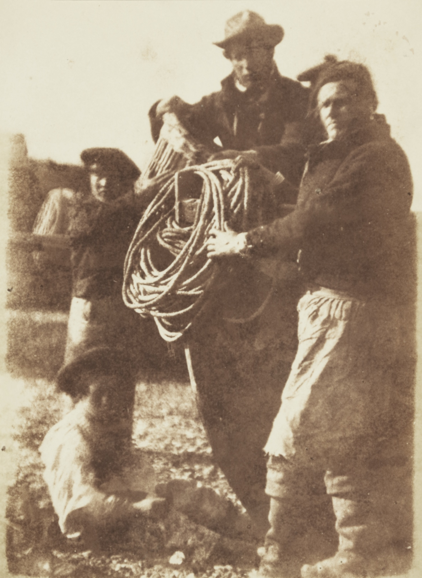 David Octavius Hill-Just Landed, Newhaven-1845