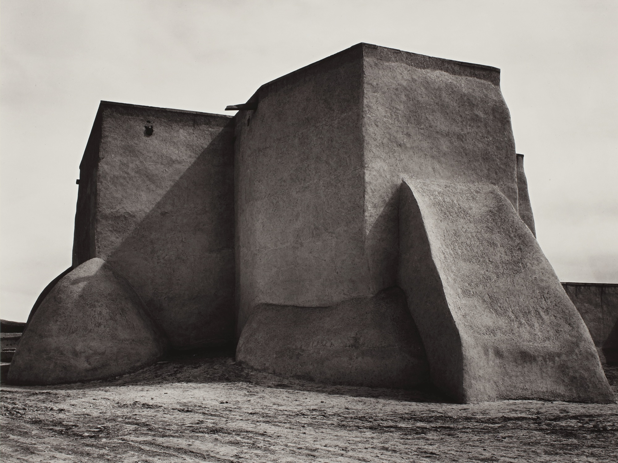 Ansel Adams-Saint Francis Church, Ranchos De Taos, New Mexico-1929