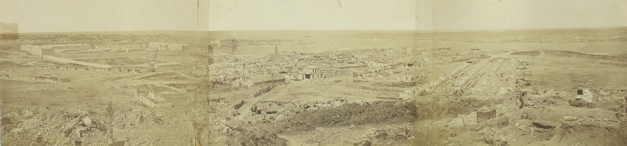 Felice Beato-Panorama Of Sebastopol From The Malakoff Tower, Crimea-1855