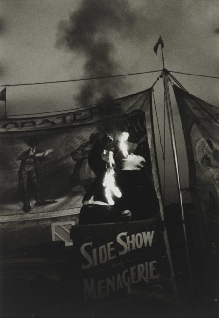 Diane Arbus-Fire Eater At A Carnival, Palisades Park, N. J.-1957