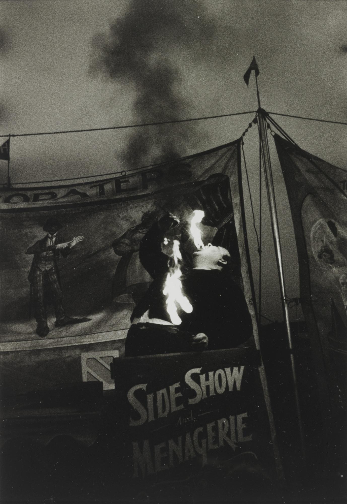Diane Arbus-Fire Eater At A Carnival, Palisades Park, N. J.-1957