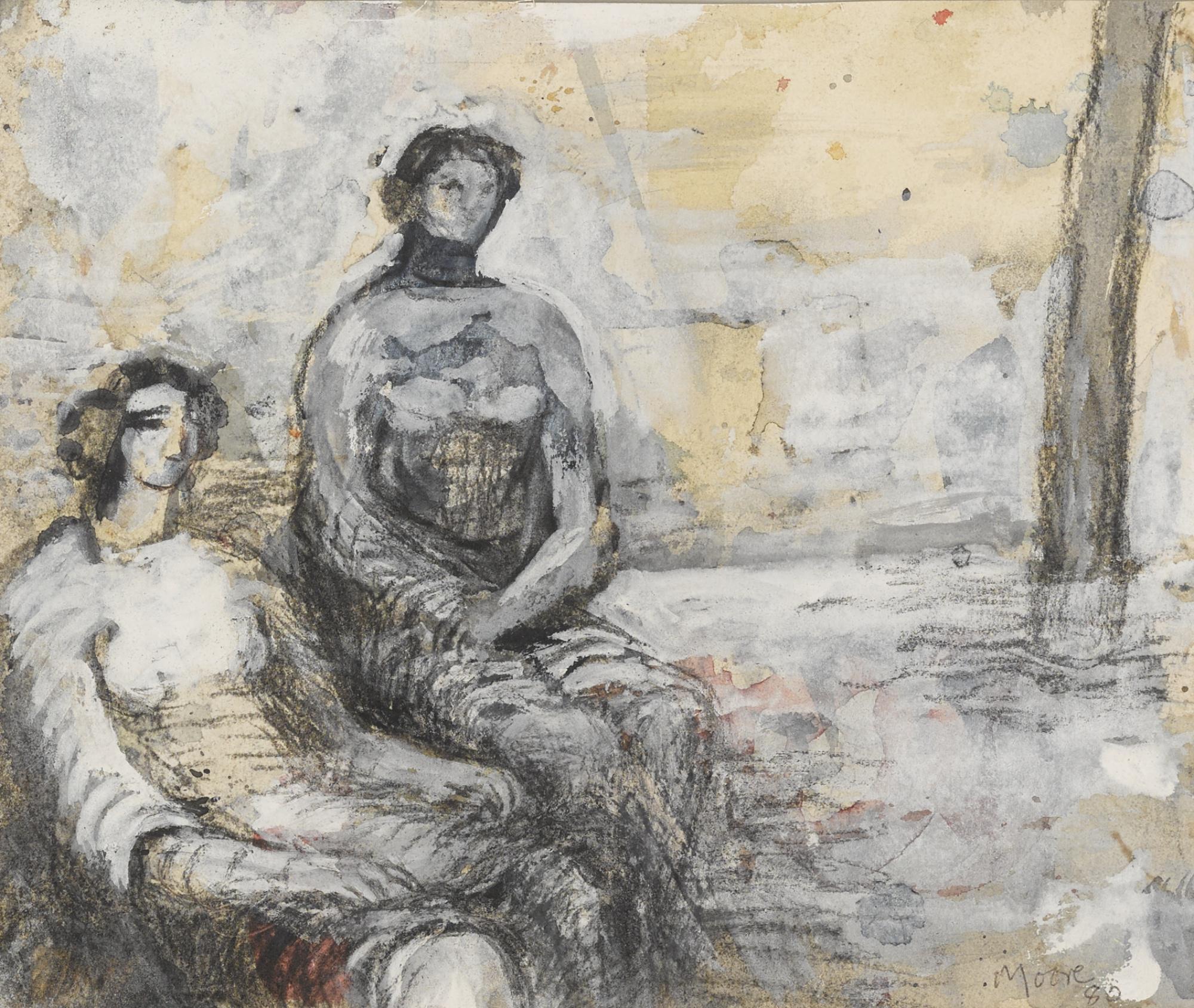 Henry Moore-Two Women-1980
