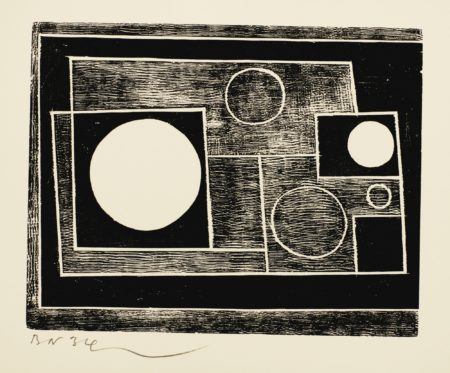 Ben Nicholson-5 Circles (L. 8)-1934