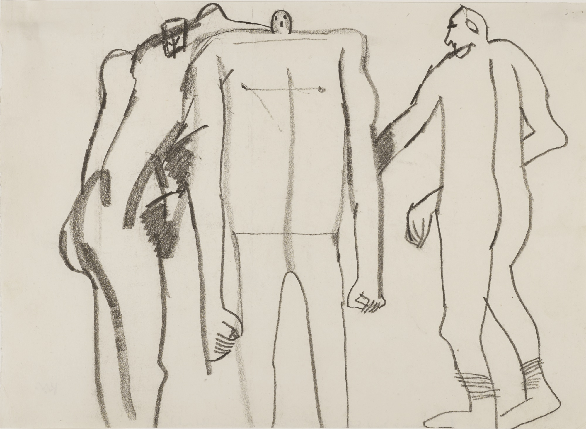 Keith Vaughan-Portraits Of John Russell, Francis Bacon And David Sylvester-1976