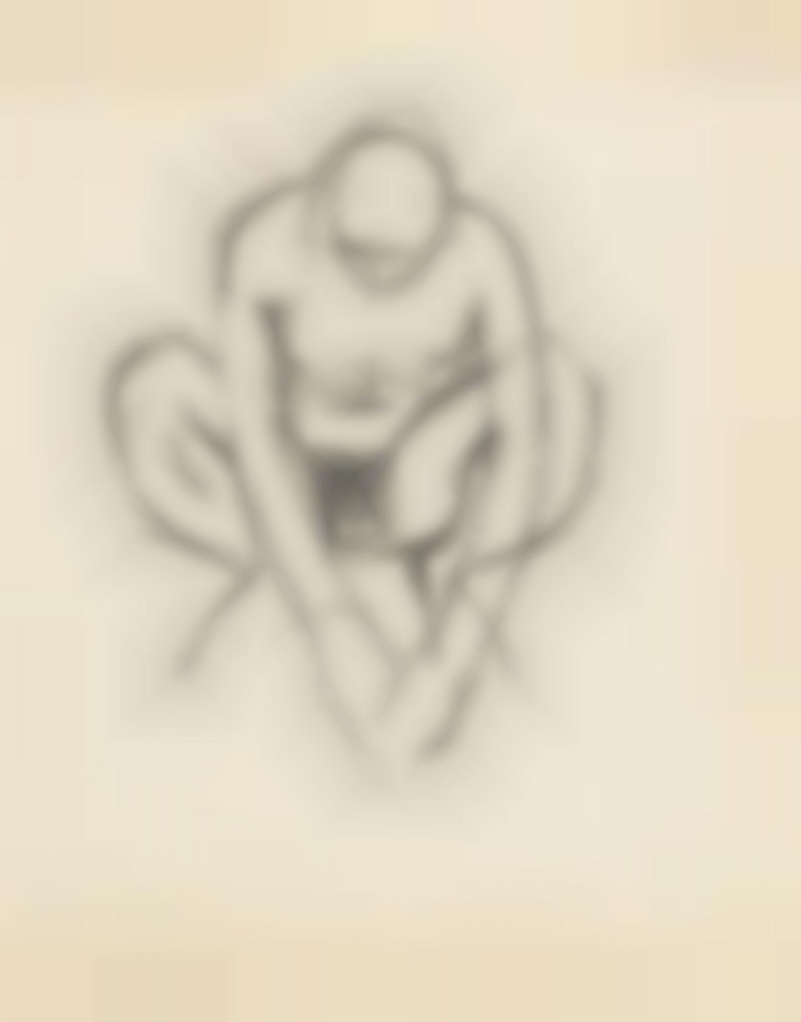 Keith Vaughan-Crouching Nude-1964