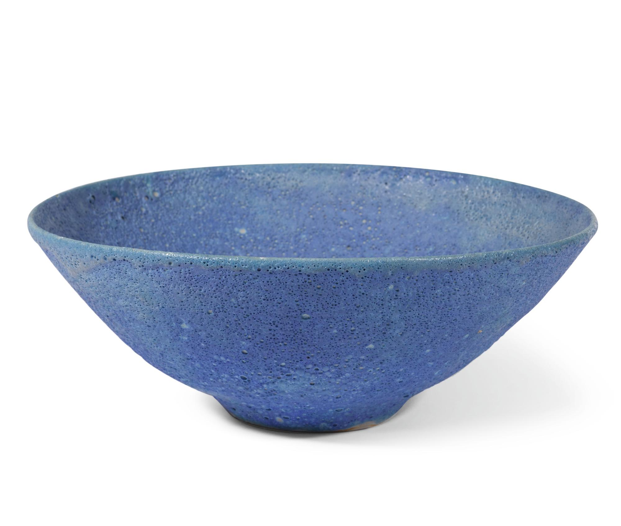 Emmanuel Cooper-Large Blue Bowl-