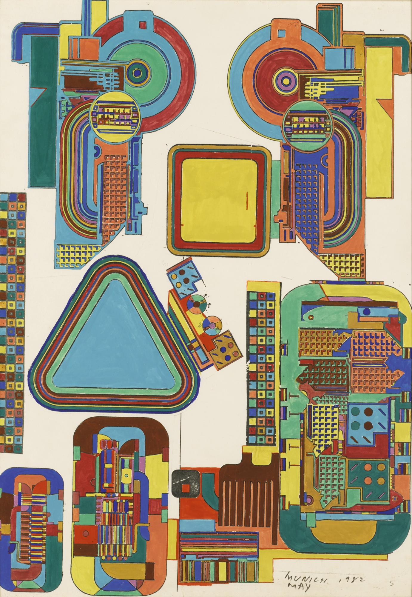 Eduardo Paolozzi-Design For London Underground Mosaics-1982