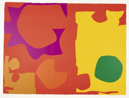 Patrick Heron-Six In Vermilion With Green In Yellow-1970