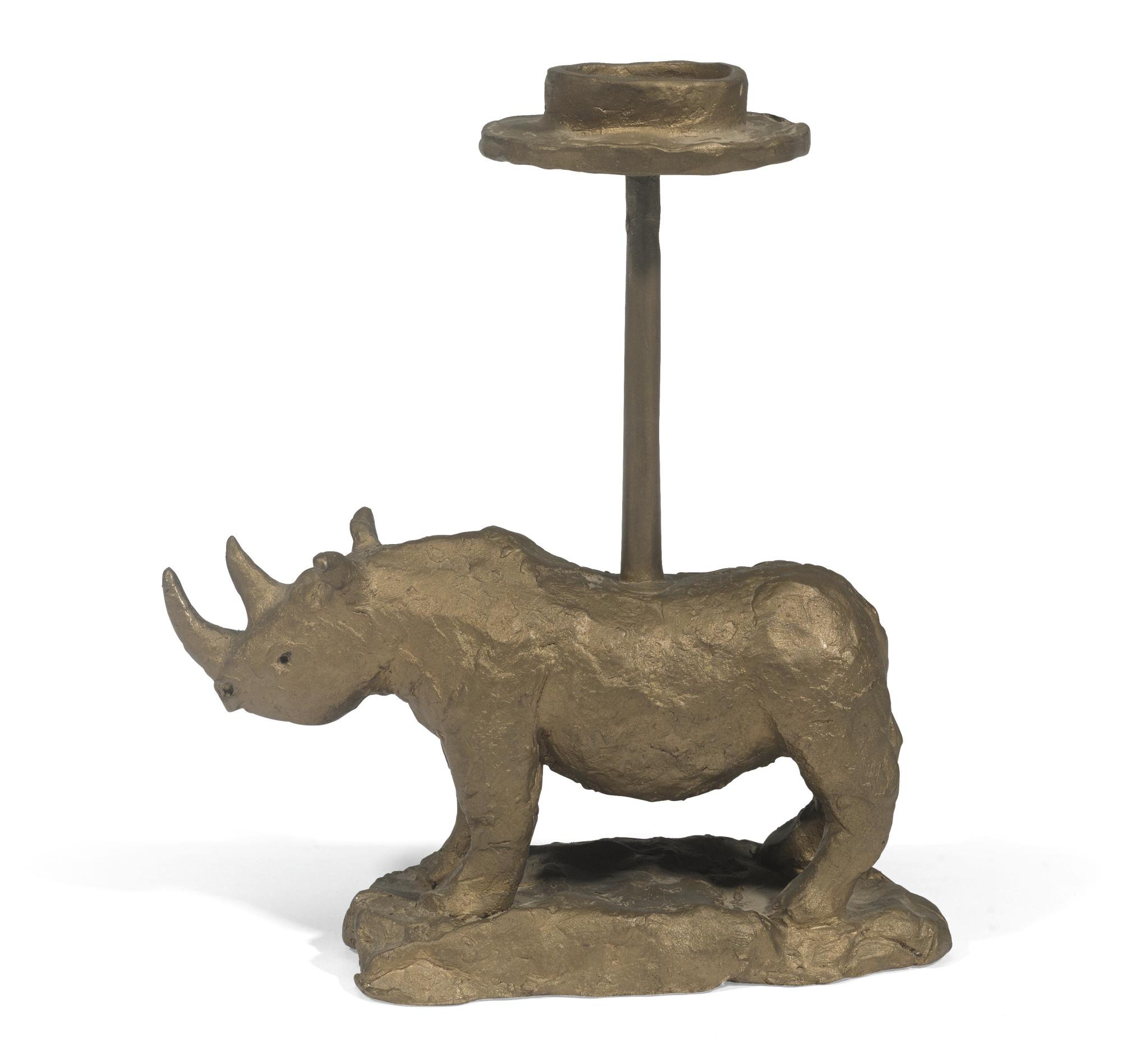 Bill Woodrow-Rhino Candlestick-2006