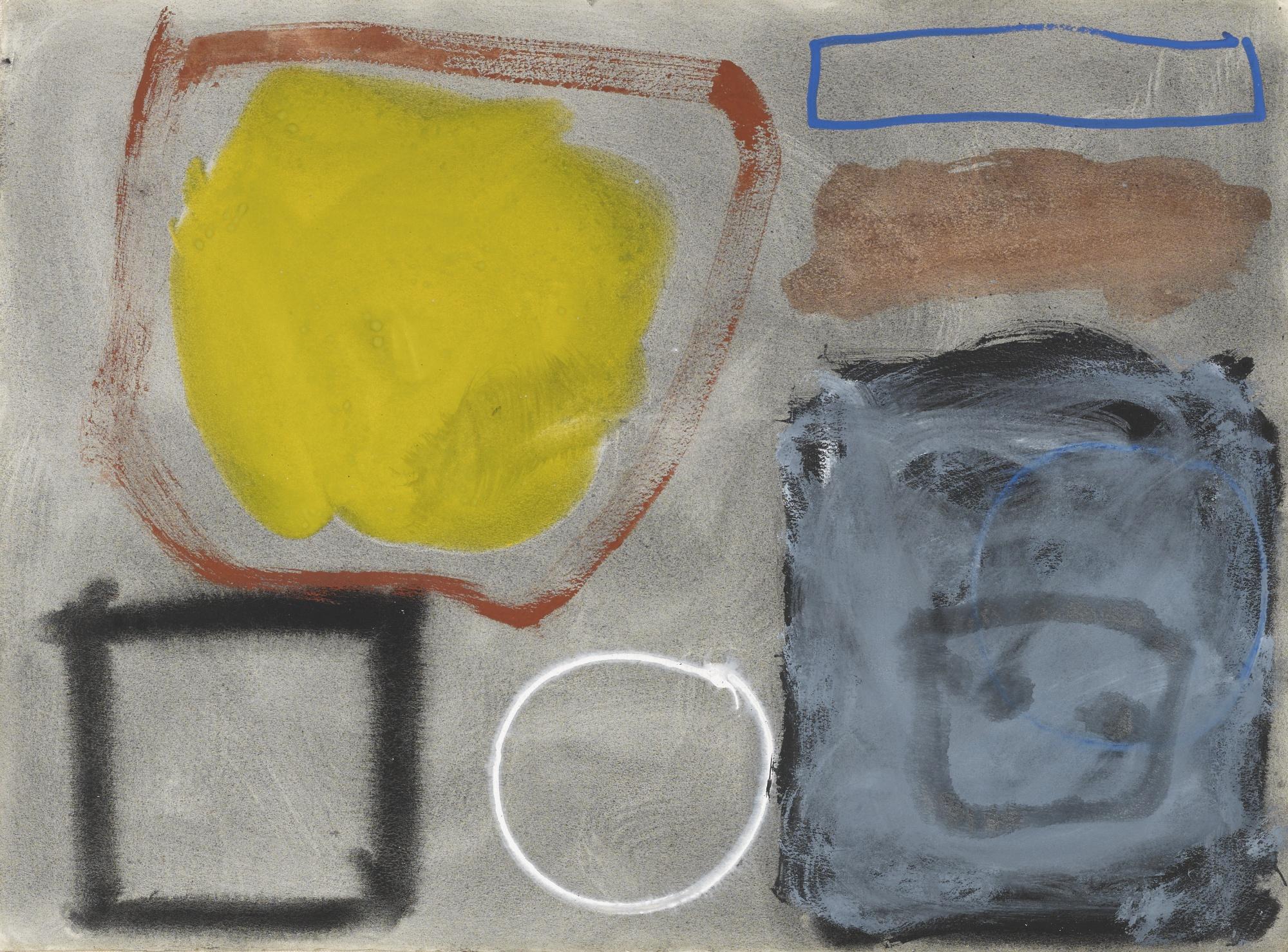Patrick Heron-Dirty Yellow In Granular Grey: March 1961-1961