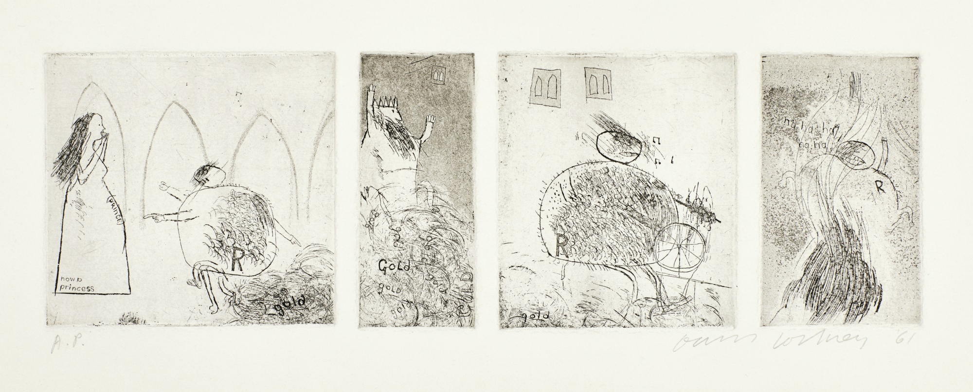 David Hockney-Study For Rumpelstiltskin (S.A.C. 11)-1961