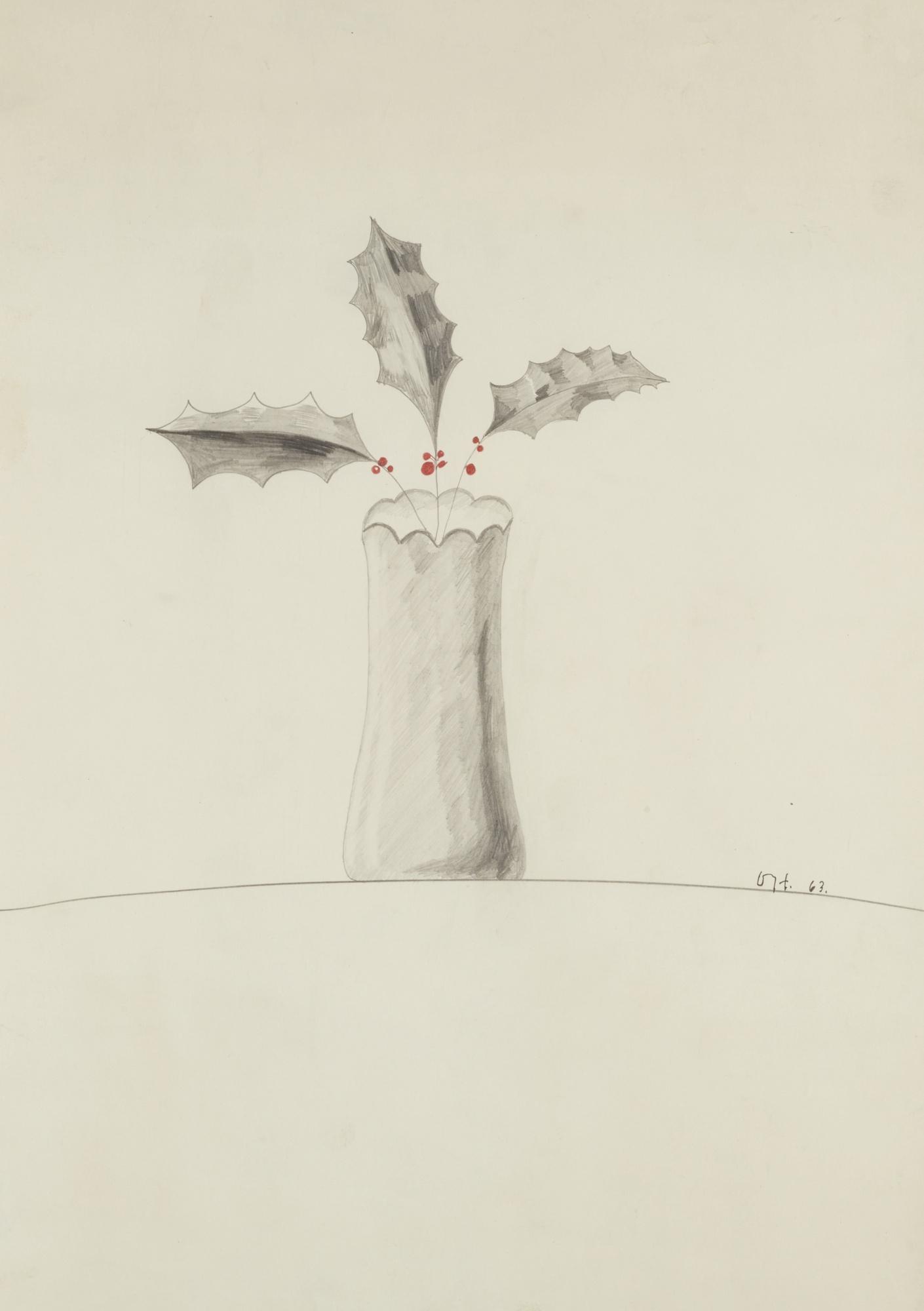 David Hockney-Vase Of Holly-1963