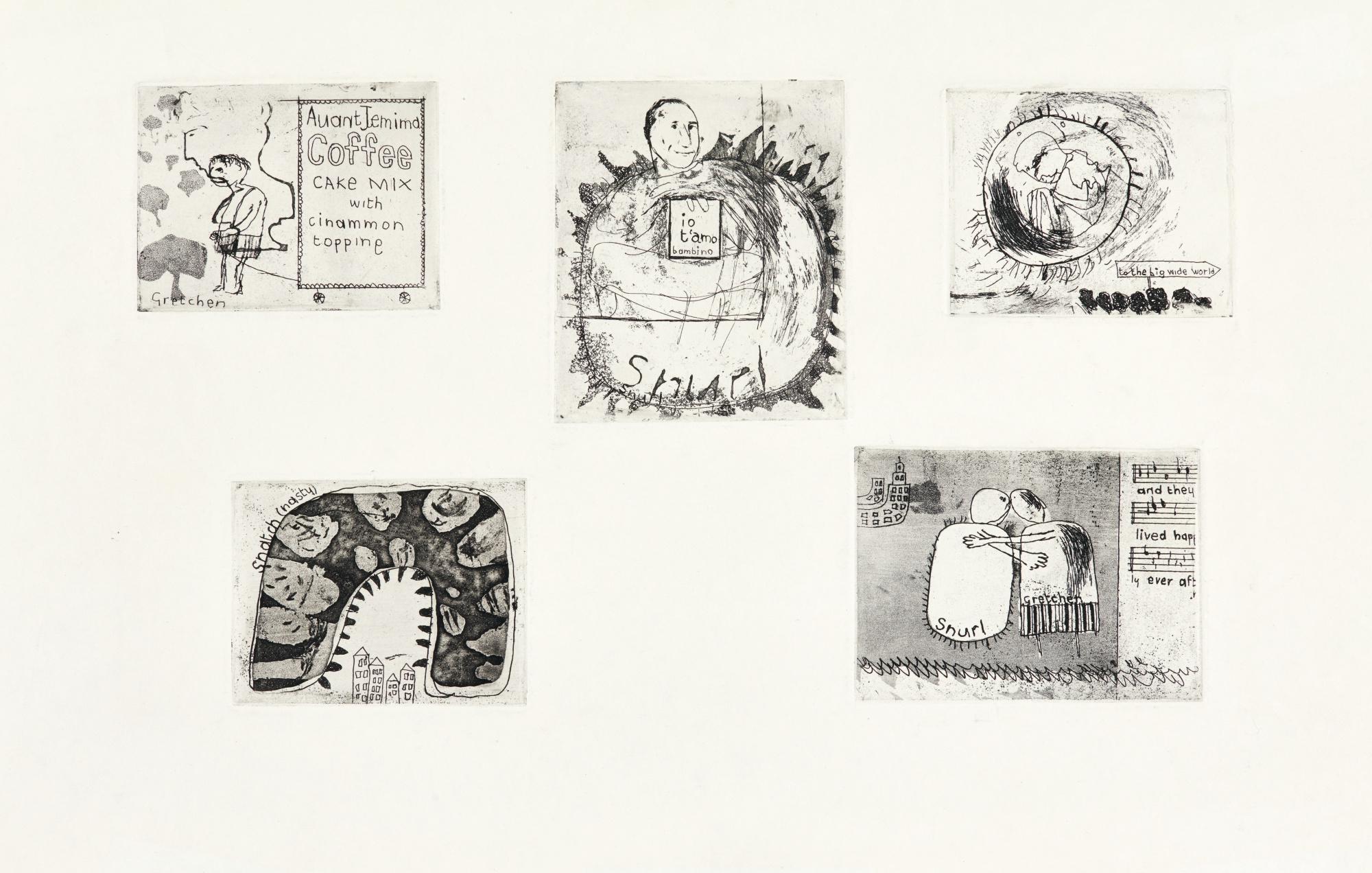 David Hockney-Gretchen And The Snurl (S.A.C. 9; Mca Tokyo 9)-1961