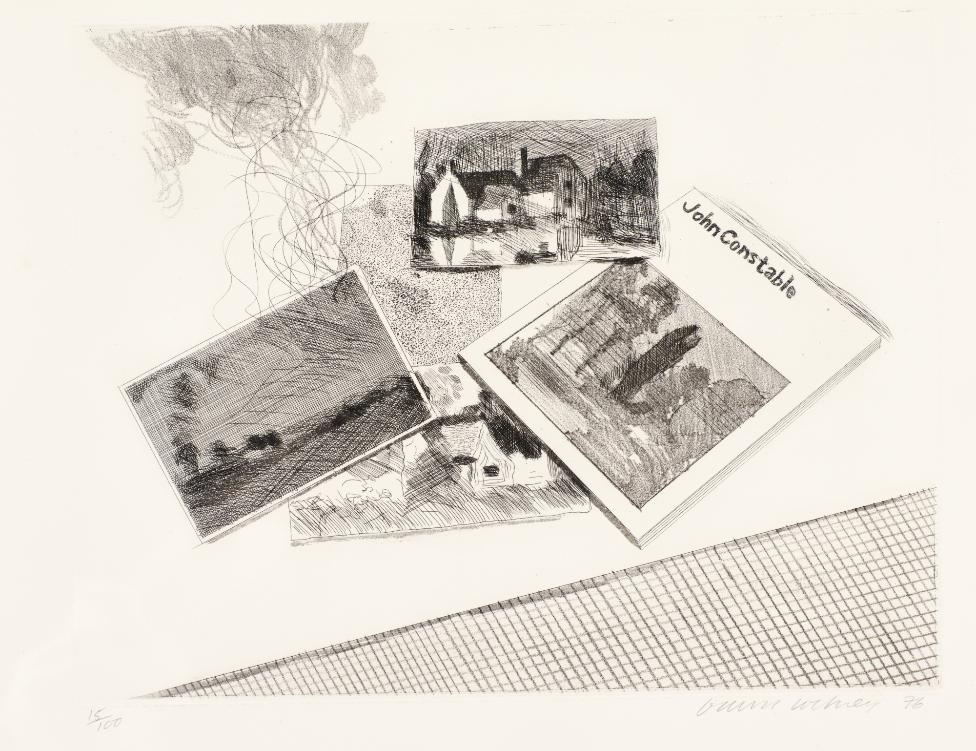 David Hockney-For John Constable (S.A.C. 189; Mca Tokyo 175)-1976