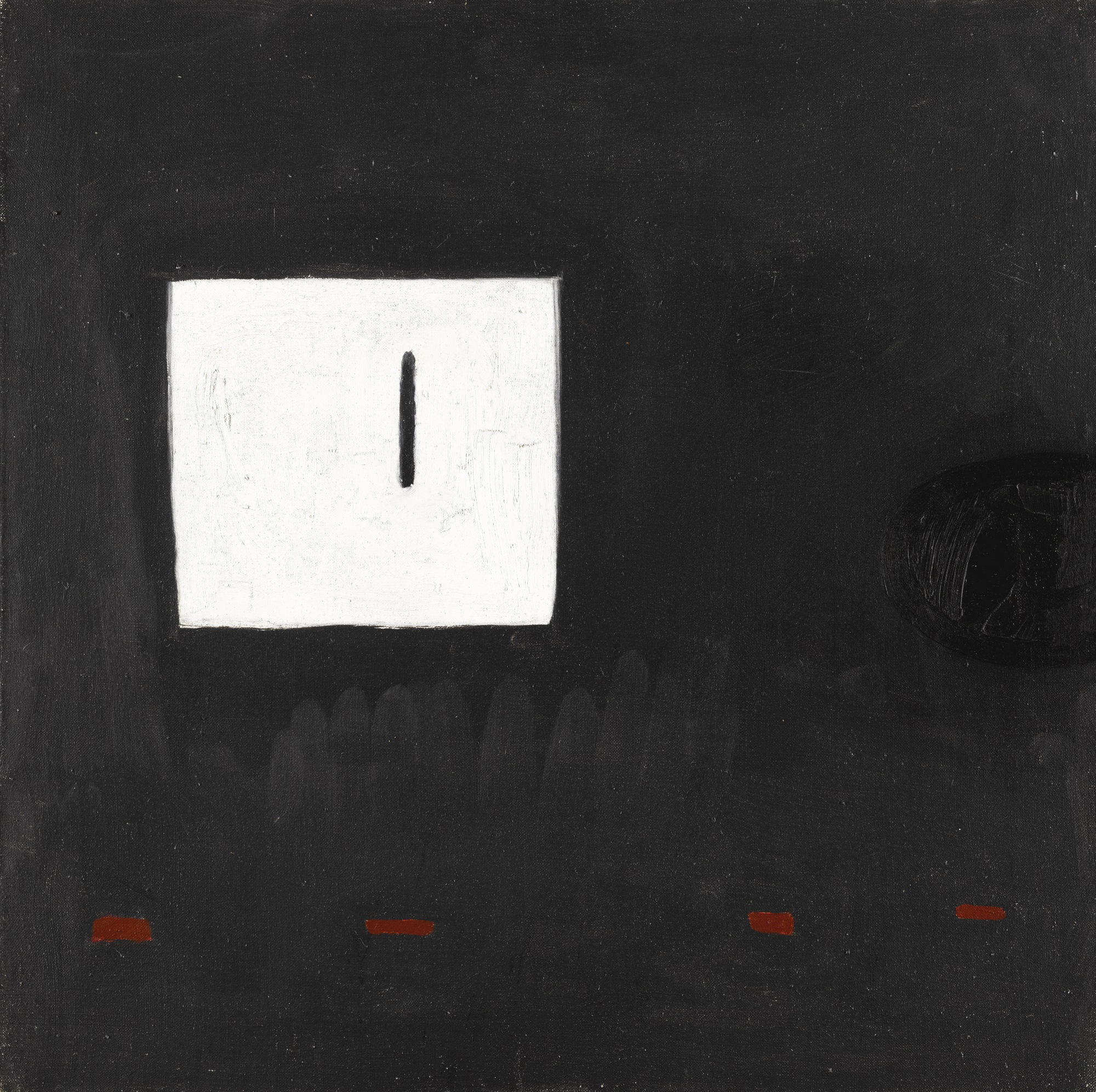 William Scott-White Square On Black Ground-1980