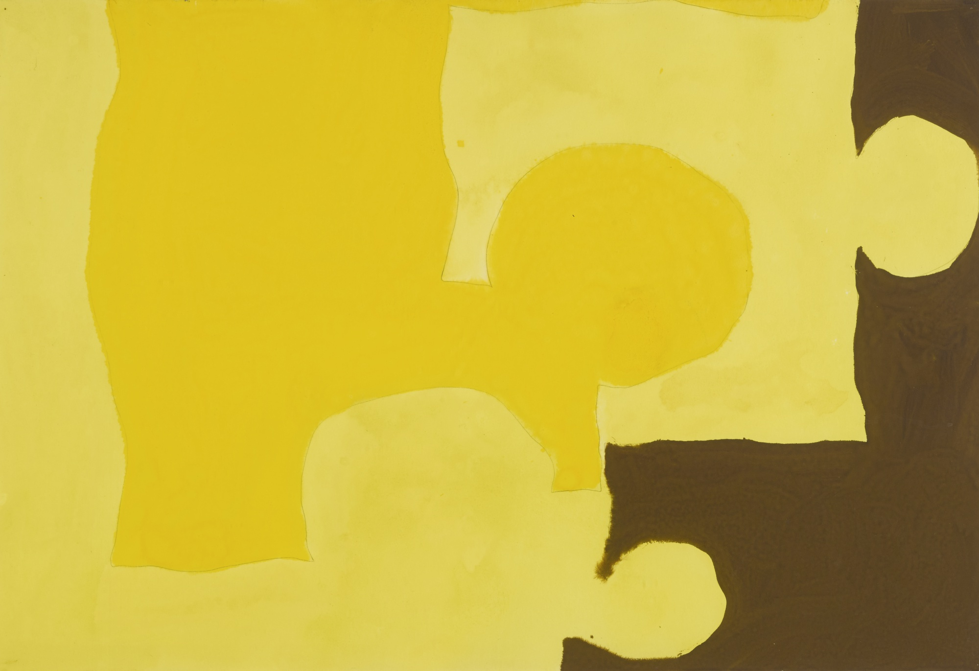 Patrick Heron-Two Yellows And Brown: August 1966-1966