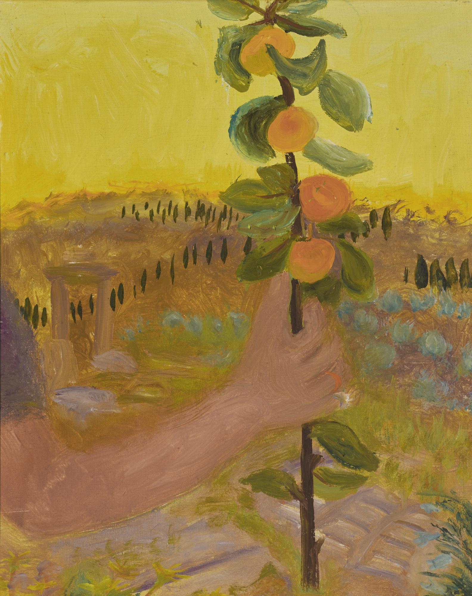 Winifred Nicholson-Holding Oranges-1960