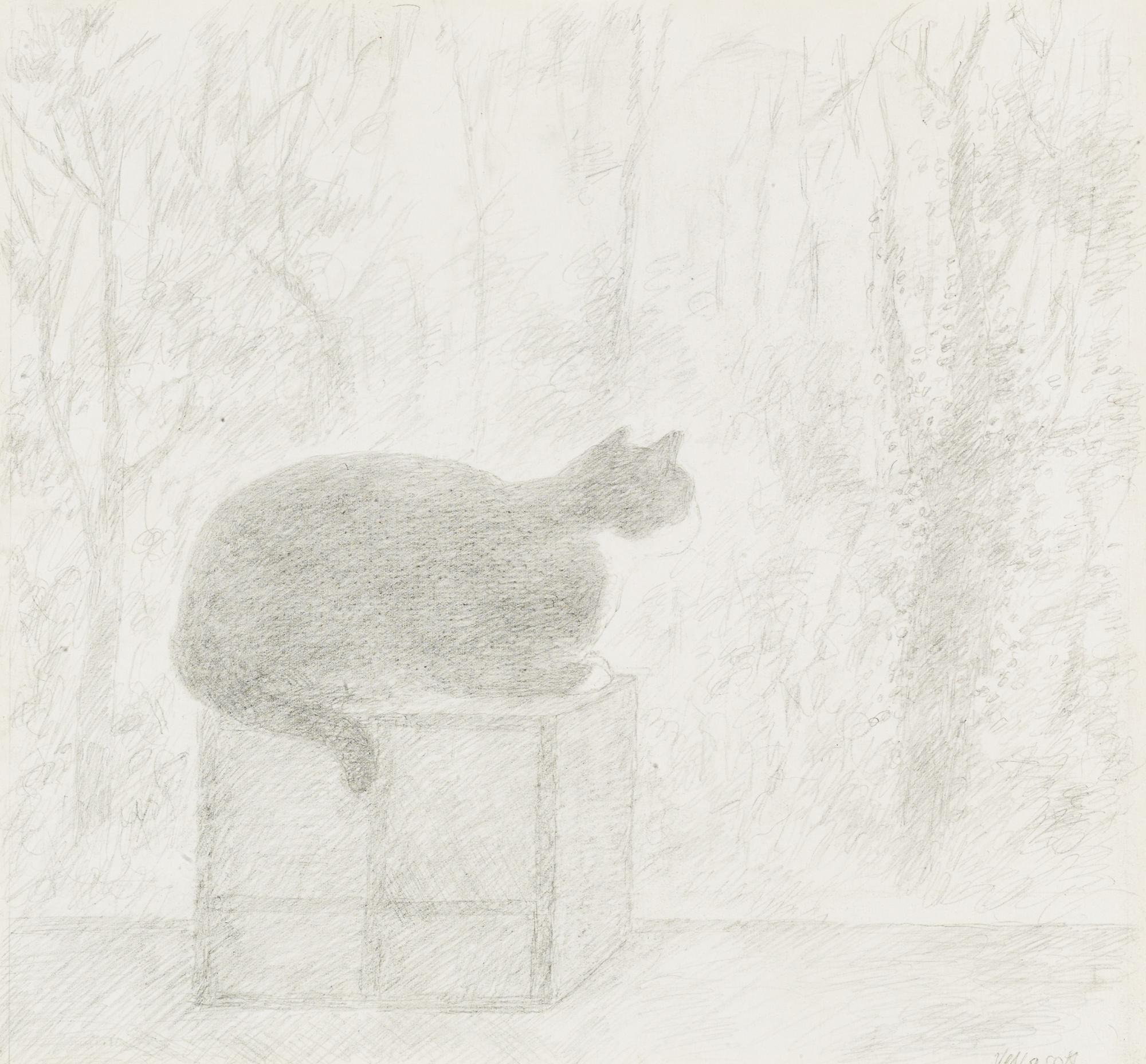 Elisabeth Vellacott-Cat Looking Out-1993