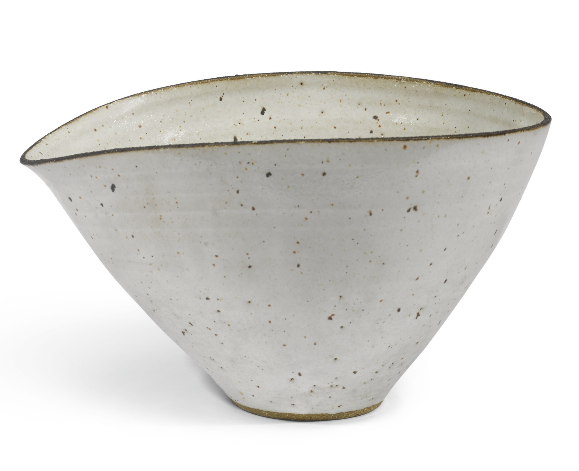 Lucie Rie-Squeezed Bowl With Pouring Lip-1950