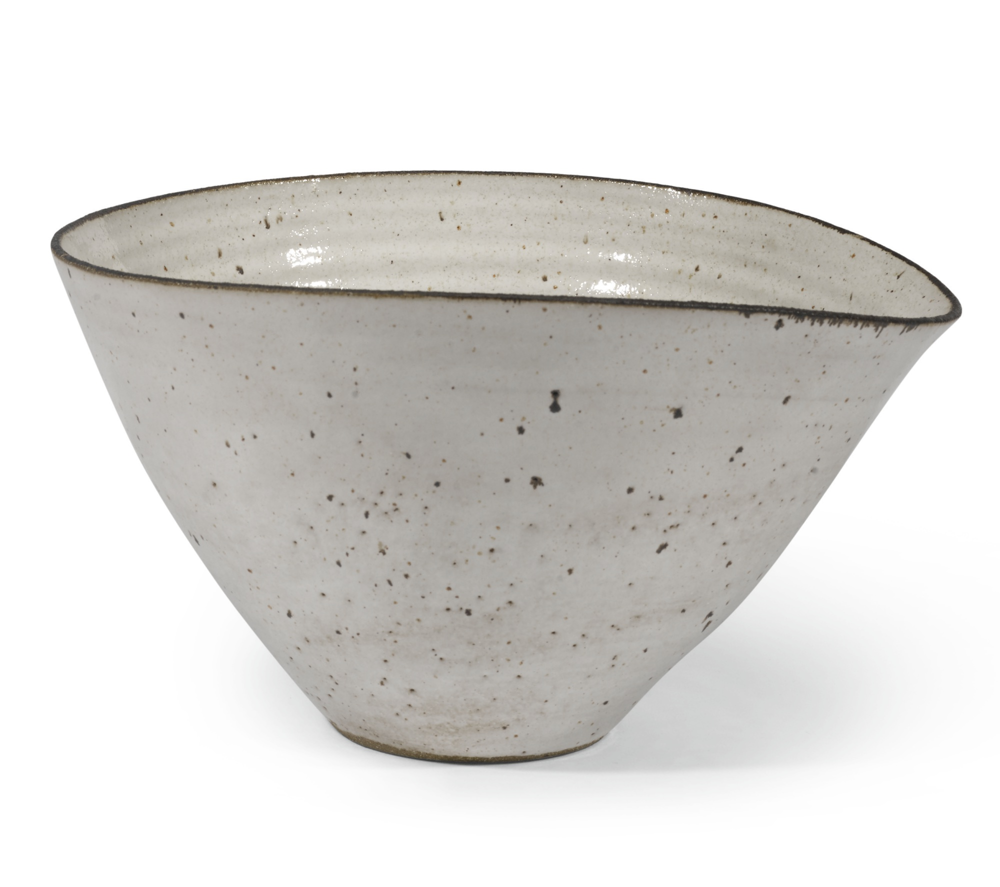 Lucie Rie-Large Squeezed Bowl With Pouring Lip-1950