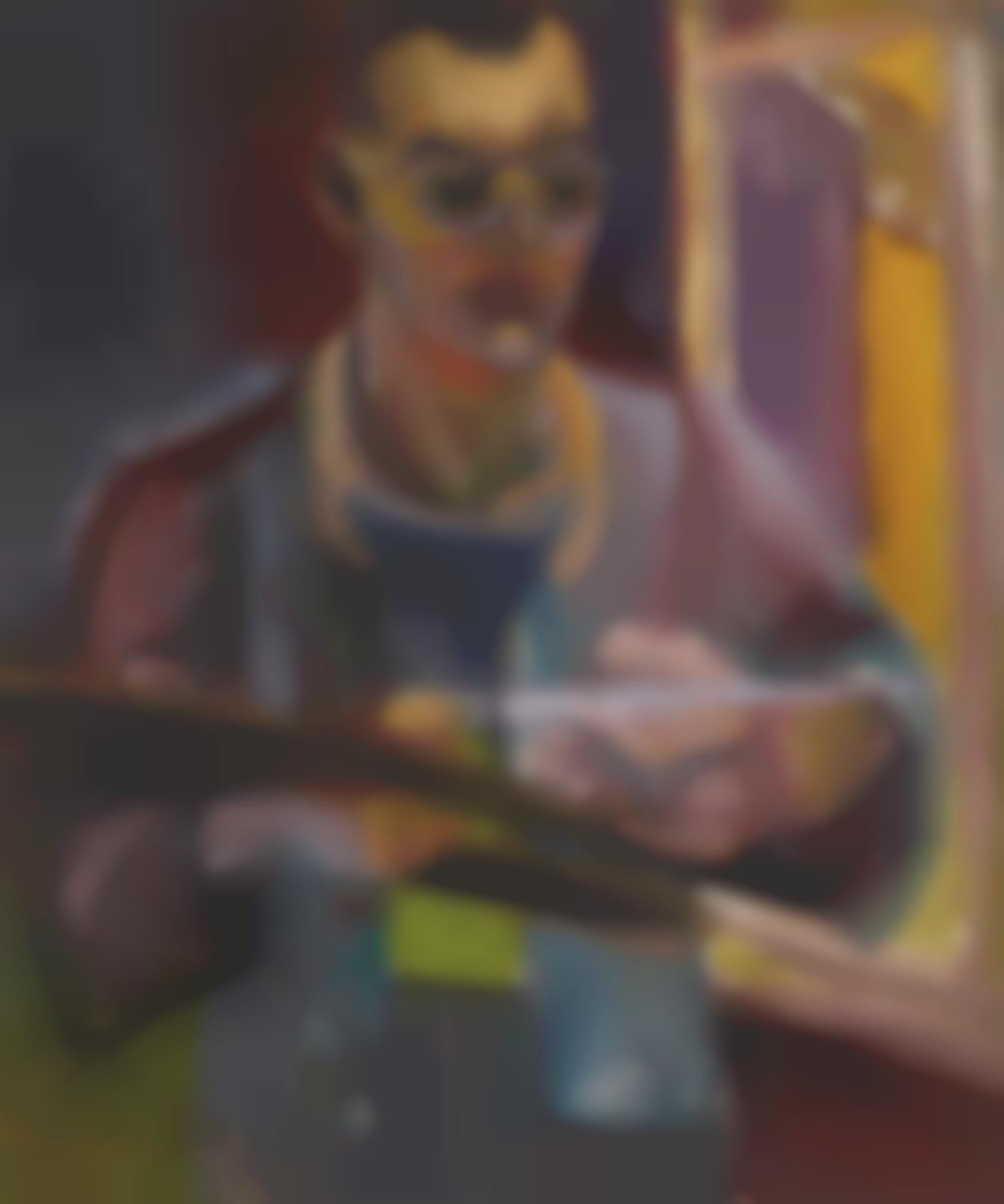 John Bratby-Self-Portrait When 21 Years, Teddington-1949